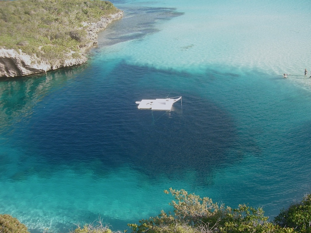 Top View of Dean's Blue Hole